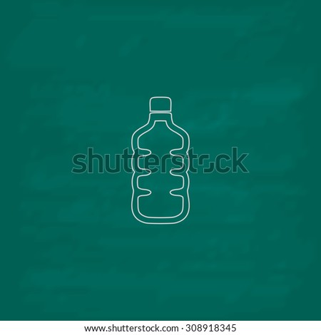 Plastic Water Bottle Outline Vector Icon Stock Vector Royalty Free