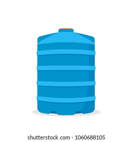 Plastic water tank icon. Vector image isolated on white background