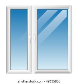 plastic window illustration