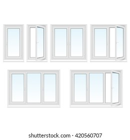 Plastic windows set