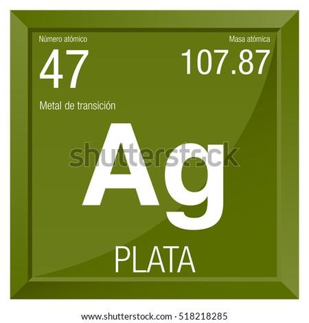 Plata Symbol Silver Spanish Language Element Stock Vector Royalty