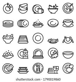 Symbole setzen. Rahmenset für Plattenvektorsymbole für Webdesign einzeln auf weißem Hintergrund