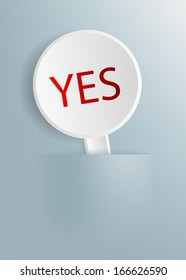 "plate with the word ""yes"""