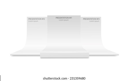 Platform for presentations and place for your design.