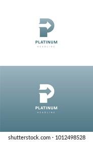 Platinum logo template.