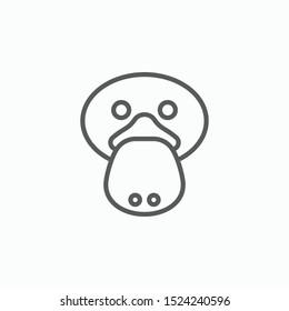 platypus icon, duckbill vector, animal illustration