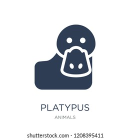 Platypus icon. Trendy flat vector Platypus icon on white background from animals collection, vector illustration can be use for web and mobile, eps10