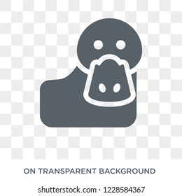 Platypus icon. Trendy flat vector Platypus icon on transparent background from animals  collection.