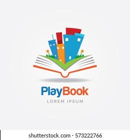 Play Book Education Logo Sign Symbol Icon