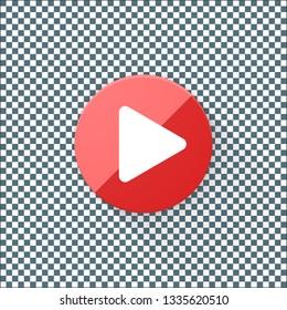 Play Button Adaptive icon Ready Design illustration