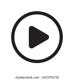 Play button. Flat icon. Isolated sign for web. Vector illustration