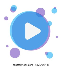 Play button flat illustration