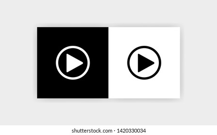 PLAY BUTTON Icon Flat Graphic Design