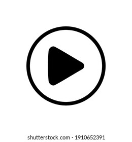play button icon isolated on white background. vector icon isolated.