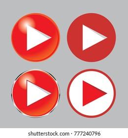 play button icon set , play icon, you tube icon