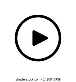 Play button Icon Vector Design Illustration