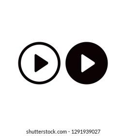 Play button icon. Vector  Eps 10