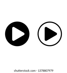 Play Button Video Music Audio Player Stock Vector (Royalty