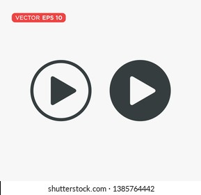 Play Button Icon Vector Illustration