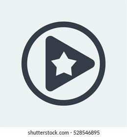 play button icon, web vector