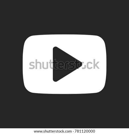 Play Button Icon Youtube Logo Symbol Stock Vector Royalty Free