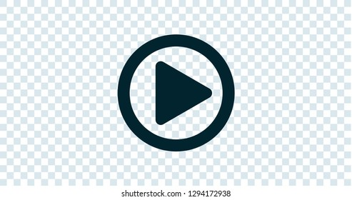 Play Button illustration Transparent Vector background 2048x1080 4096x2160 aspect ratio