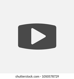 play button vector icon for streaming and media