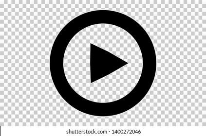 Play button. Vector illustration. Icon button.