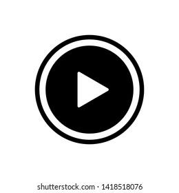 Play Button Video Icon Vector Design Illustration