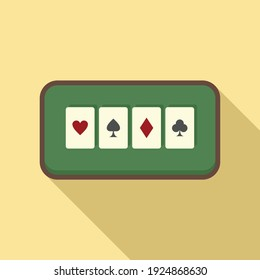 Play cards icon. Flat illustration of play cards vector icon for web design