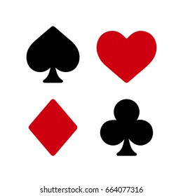 Play cards symbols vector set