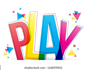 Play colorful word vector design