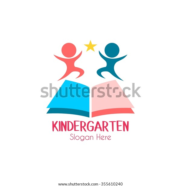 Play design,kids logo,kindergarten and school logo,learning and education,Vector Logo Template