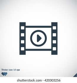 play the film vector icon