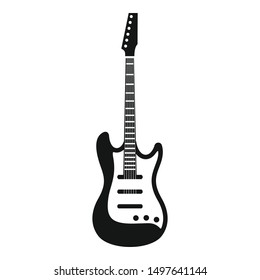 Play guitar icon. Simple illustration of play guitar vector icon for web design isolated on white background