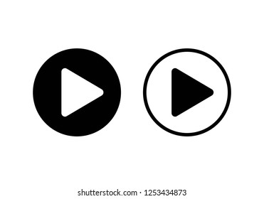 Play Icon. Play button vector icon