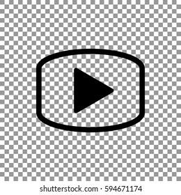 play icon flat .