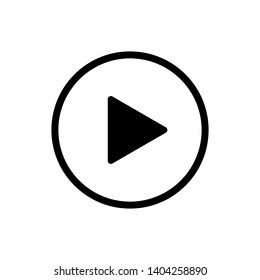 Play icon isolated button or video player sign. Web media symbol. Multimedia interface. EPS 10