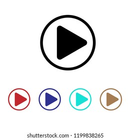Play icon, Media sign, button