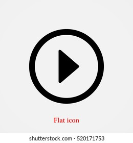 play icon, vector best flat icon, EPS