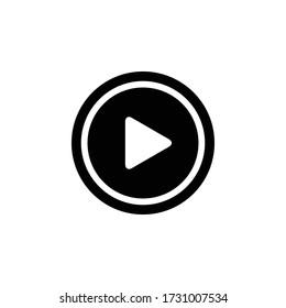 Play Icon Vector Simple Design