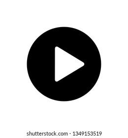 Play icon. Video play icon. Vector play button icon