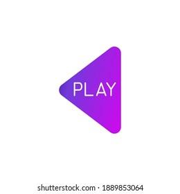 Jouer. Eléments du modèle de création d'icônes de logo. Concept Pour Votre Logo. Illustration vectorielle