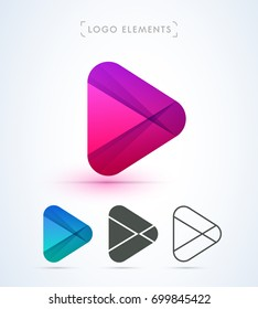 Play logo icon. Material design style