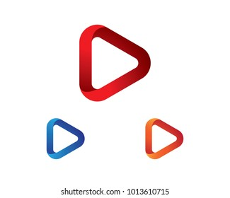 play logo vector ilustration template