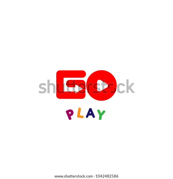 Play logo vector. Isolated on a white background.