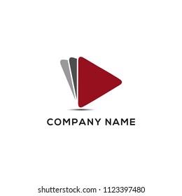 play media logo design template