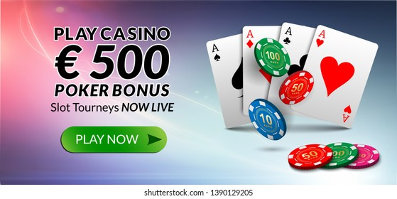 Play now €500 poker bonus.