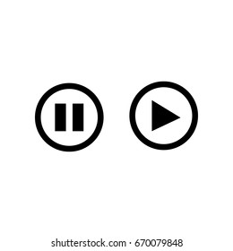 play pause button icon