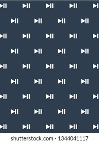 play and pause button pattern vector. Editable background.